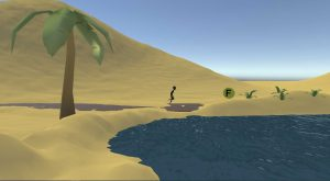 le monde désert de dactylo run